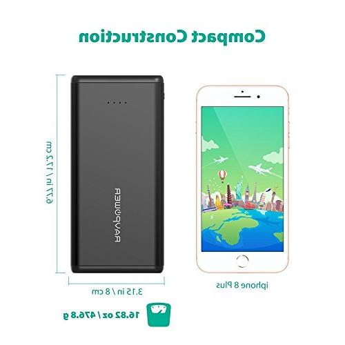 Portable USB Battery Dual iSmart 2.0 Ports, iPhone, iPad, Devices