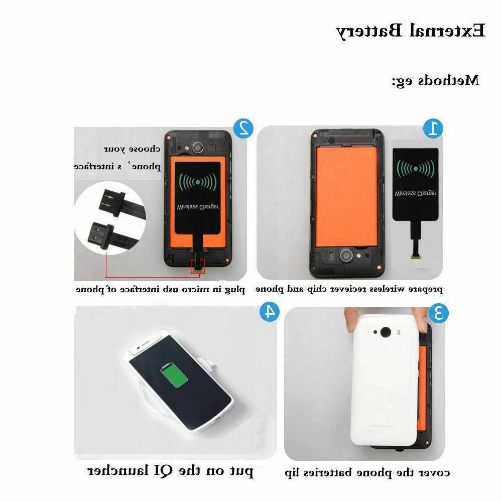 QI Wireless Adapter Fast Charger Receiver Samsung Android Type