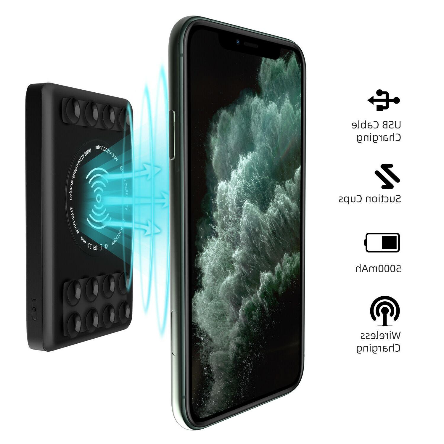 Qi Wireless Bank Charger Dual Port