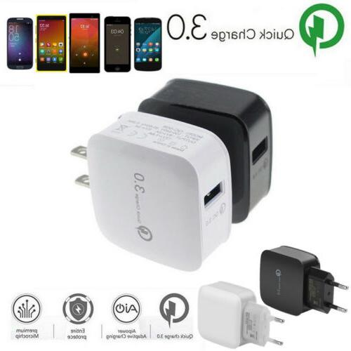 Quick Charge 3.0 USB 5V 3A Mobile Phone Wall Home Travel AC