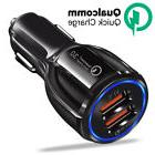 Qualcomm Quick Charge Fast Charging Dual 2 USB Car Charger f