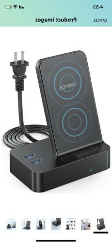 seenda Wireless Charger with 2 USB Ports, 3-in-1 Multi-Devic