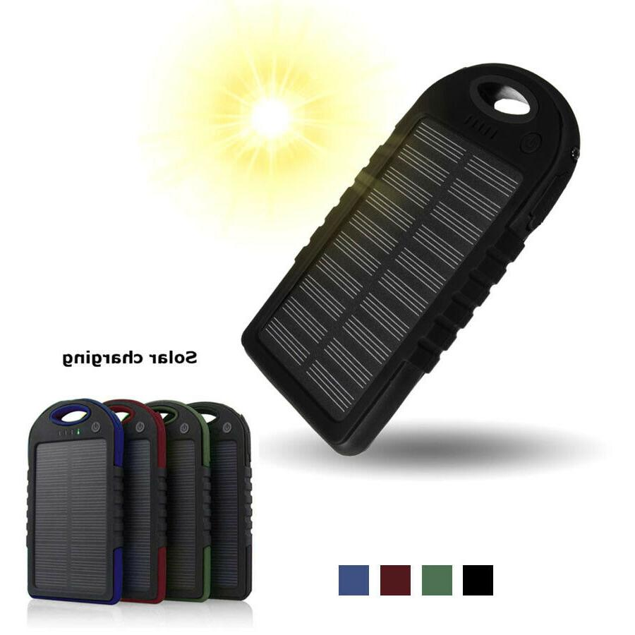 solar charger dual usb portable power bank