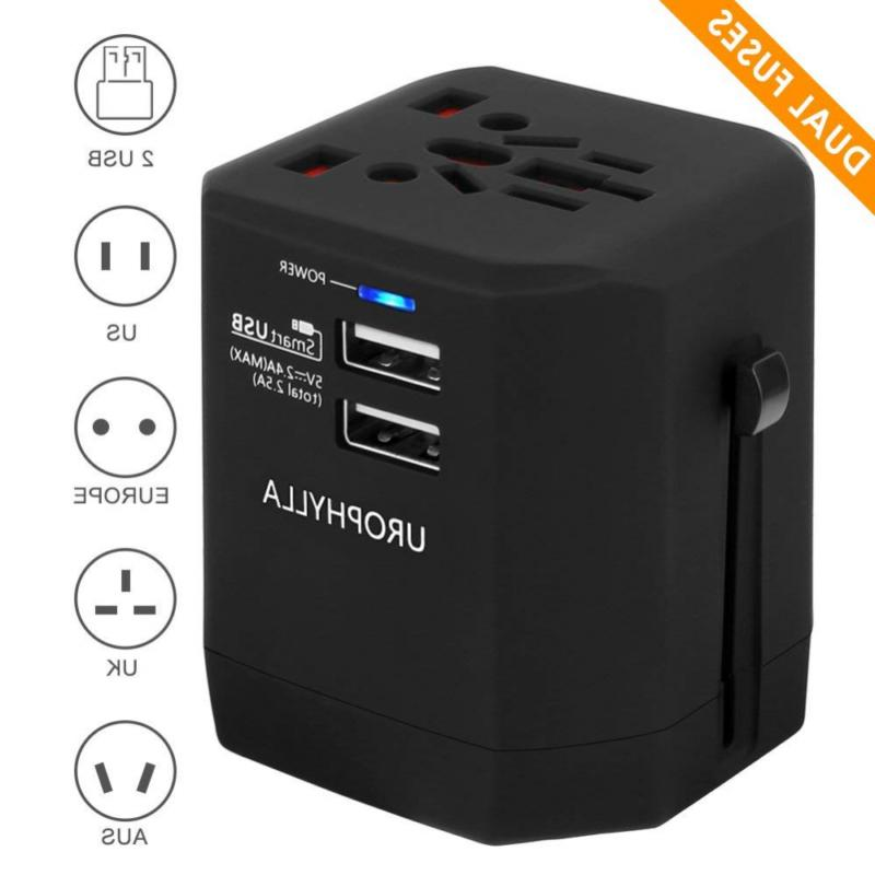 travel adapter urophylla universal european dual fuses