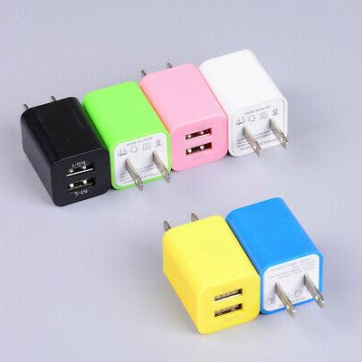 US Plug Charger Dual Port Power Adapter USB For Cell Phone**