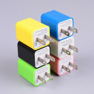 US Plug Charger Dual Port Power Adapter Charger For Cell