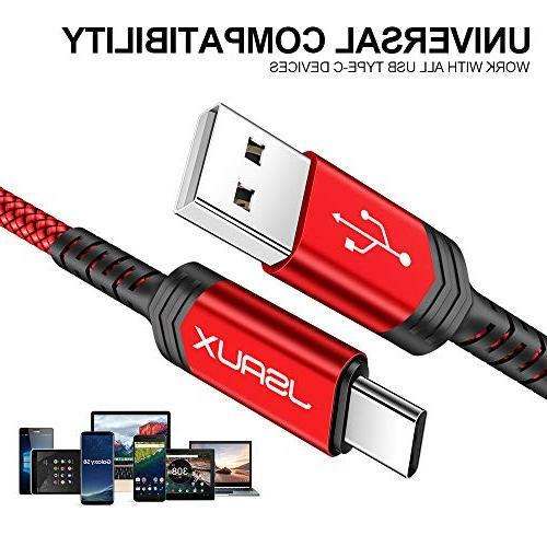 USB Type USB 2.0 USB-C Fast Braided Compatible S9 S8 Plus Note 9 8,Moto Z2,LG V20 Devices