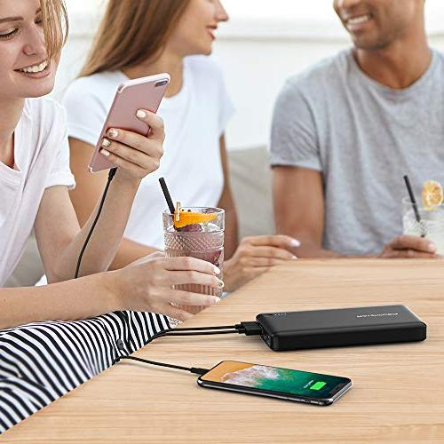 RAVPower 20100 Portable Charger with QC Qualcomm Quick 20100mAh Input C Nintendo Switch, iPhone, MacBook, Galaxy