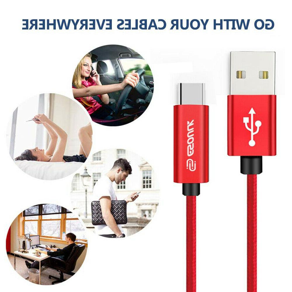 USB C 10FT Cable Fast Charger Sync Charging Nintendo Switch