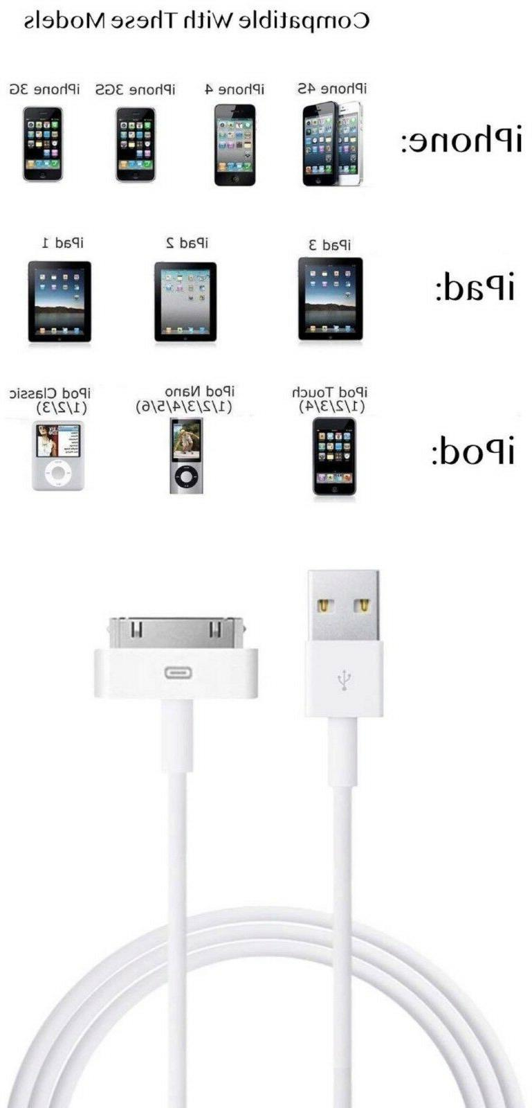 USB Data Sync Cable Cord Charger for 4 4G 4S iPod Touch