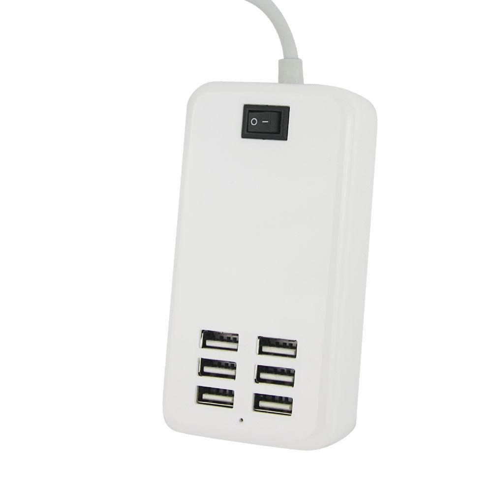 6 Port Multi-Function Fast Station AC Power Adapter US