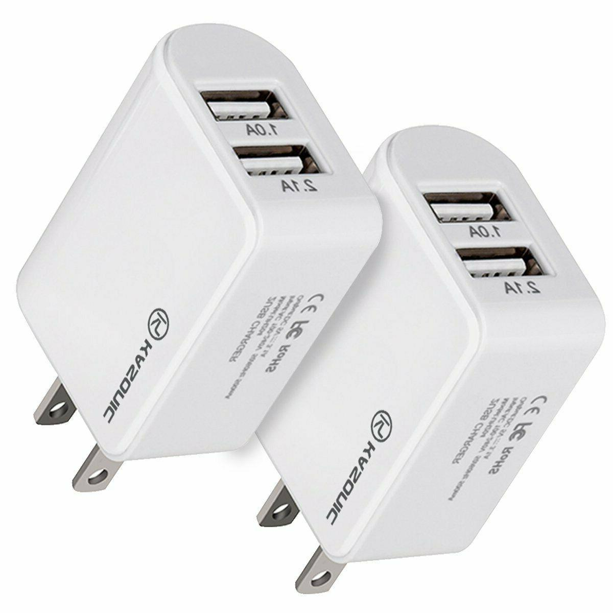 usb fast charger 2 port station universal