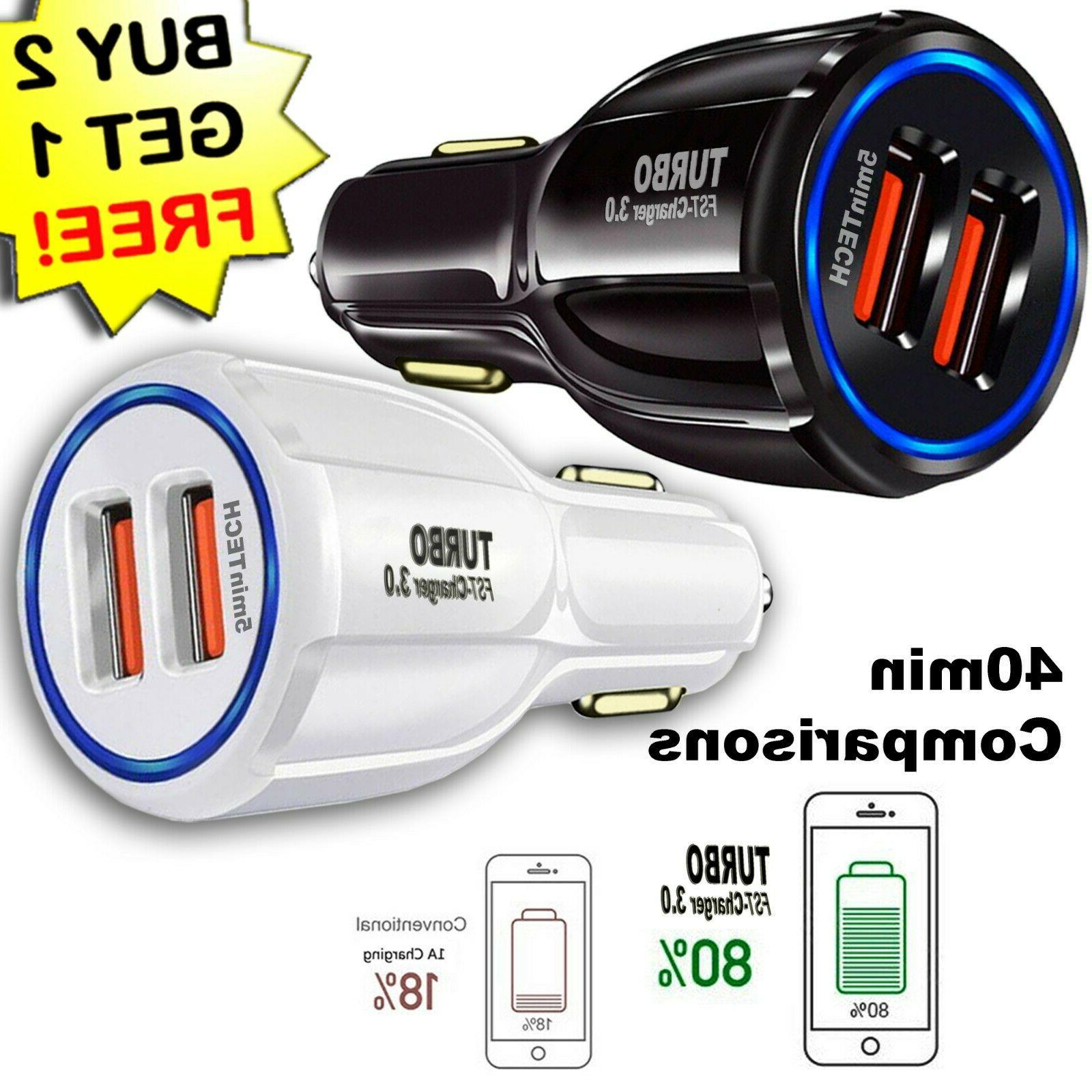 usb fast quick car charger adapter 16w