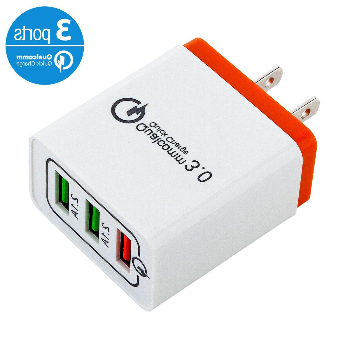 USB Quick Hub Wall Adapter For iPhone Android
