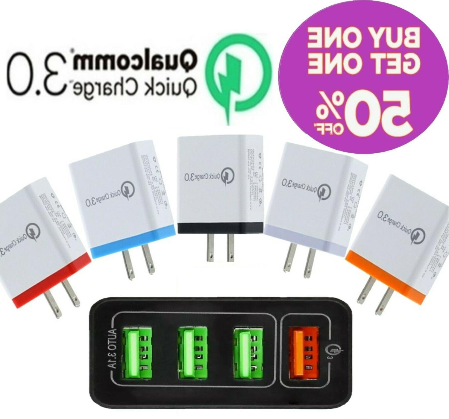 usb fast quick charger hub wall charger