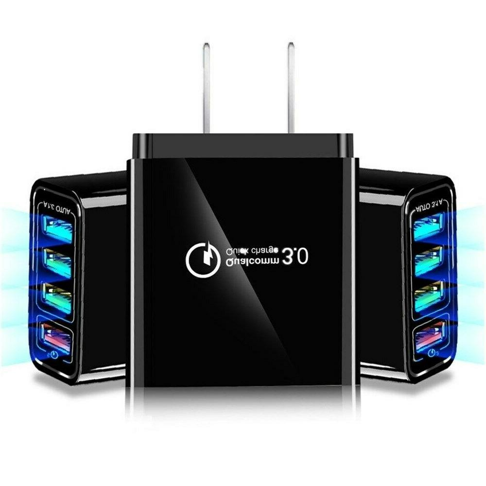 2-Pack 4-Port USB Fast Wall Power Adapter US Android