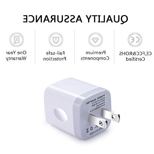 Wall Charger, 5V/2.1AMP Ailkin 2-Port Wall Charger Home Plug Power Adapter X/8/7/7 Samsung Galaxy S7 S6, HTC, LG, Motorola and