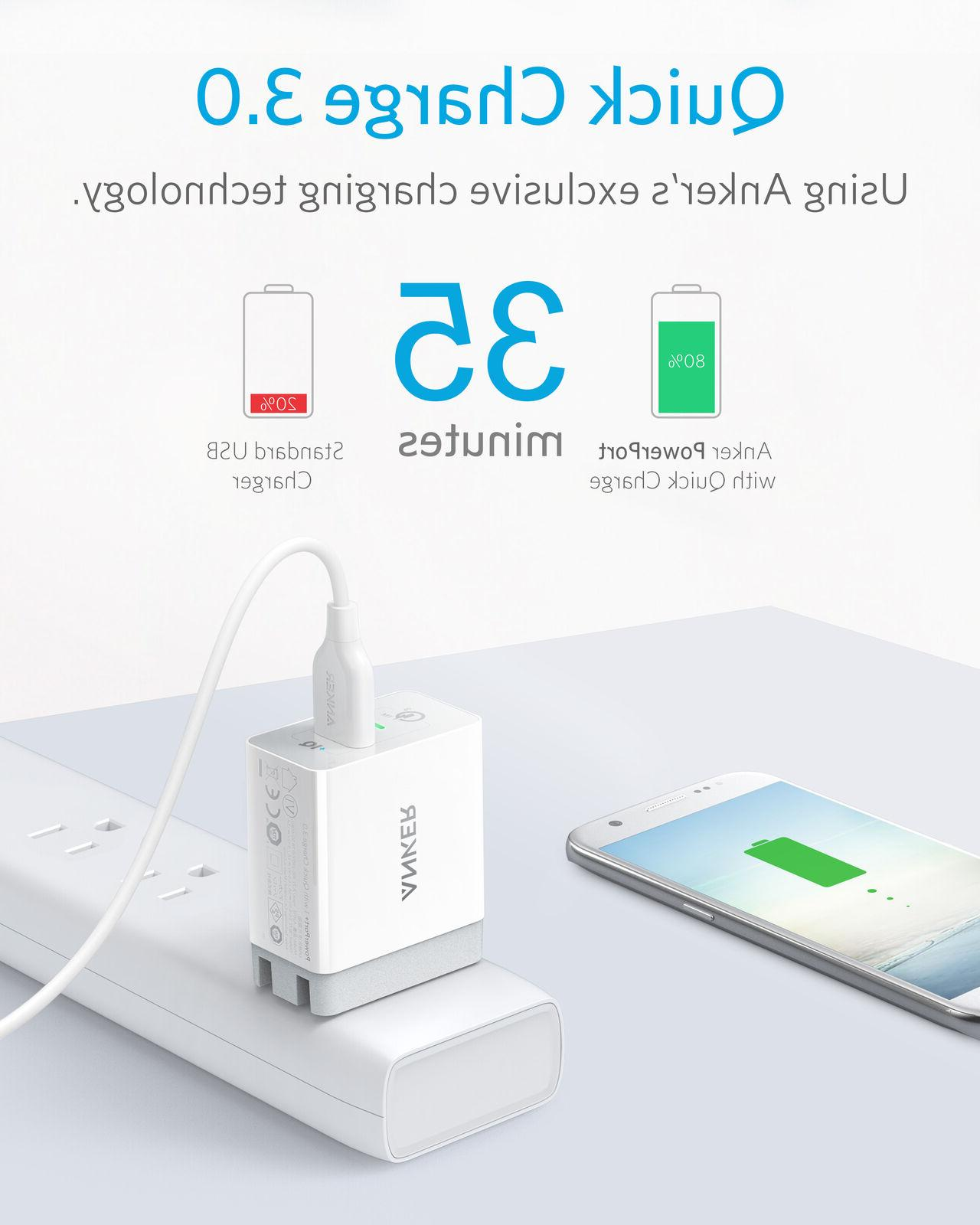 Anker Charger Quick 3.0 3Amp 1 Galaxy iPhone