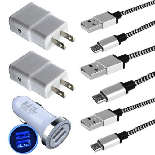 wall car charger usb cable for samsung