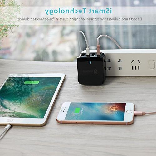 USB Plug - Syncwire 4-Port US UK for Apple iPhone / 8 / / / Galaxy / Note &