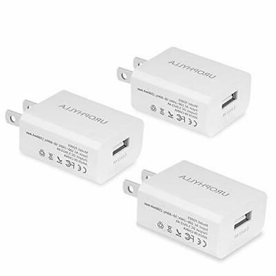 Wall Charger UROPHYLLA 3 Pack 12W/2.4A Mini Portable USB Wal