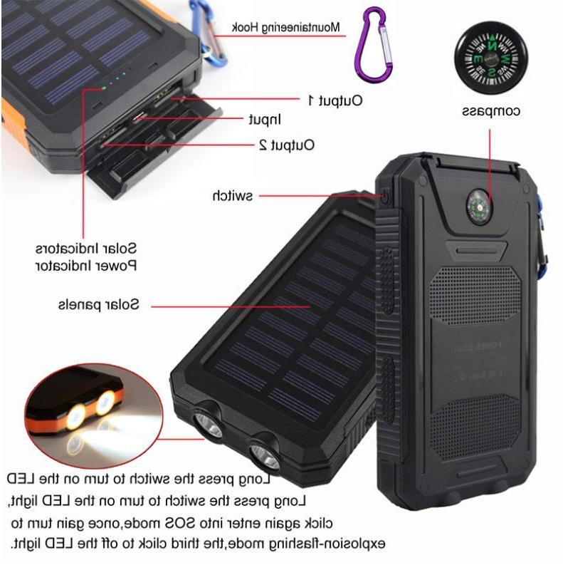 Waterproof Dual USB Portable Solar Solar Power