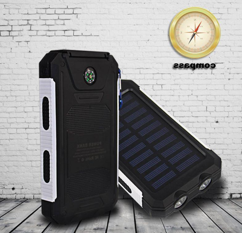 Waterproof 900000mAh Dual Portable Solar Power For Phone