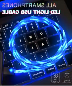 LED Light Visible Flow USB Charger Charging Cable Cord iPhon