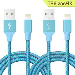 Lightning Cable, Quntis iPhone Charger 2Pack 6FT Lightning t
