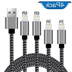 Chouqing Phone Cable 4Pack 3FT 3FT 6FT 6FT to USB Charger Co