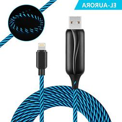 EL-AURORA Lightning to USB Cable 360 Degree Light Up Visible