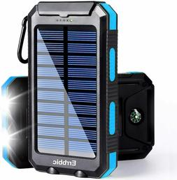 Lit Solar Power Bank Travel Flashlight Camping Dual Usb Tabl