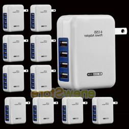 LOT 2.1A 4 Ports USB Portable Home Travel Wall Charger US Pl