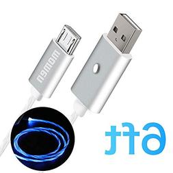 Micro USB Charging Cable, Momen 6ft Android Fast Charger Cab