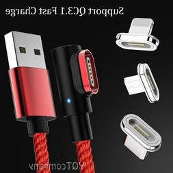 Micro USB Type C Lightning 3A Charger Charging Cable For iPh