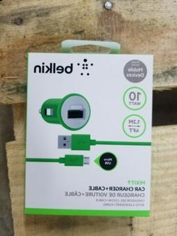 Belkin MIXIT Car Charger With 4 Foot Micro USB Charging Cabl