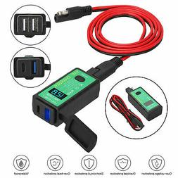 Motorcycle USB Charger Waterproof SAE to USB Cable Adapter P
