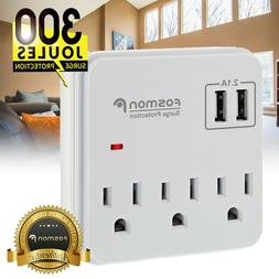Surge Protector Power Strip Wall Tap USB Multi Outlet Port A