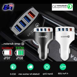 Multi 4 Port USB Car Charger Adapter Socket Quick Charge QC