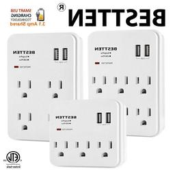 Multi Electrical Outlet Socket Wall Tap Adapter Surge Protec