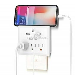 TESSAN Multi Plug Outlet Extender with USB Wall Charger and