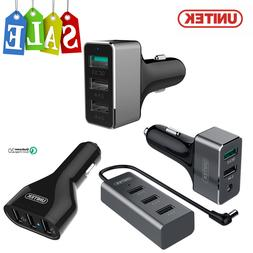 UNITEK Multi Port QC 2.0 / 3.0 USB Car Charger Adapter For I