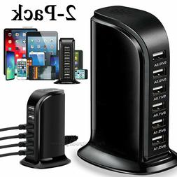Multi Port USB Charger Rapid Charging Station Desktop Travel