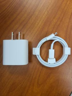 New Apple 18W USB-C Fast Charge Wall Power Adapter & Cable F