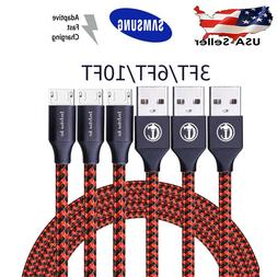 3Pack Micro USB 3.0 Fast Charger Data Sync Cable Cord For Sa