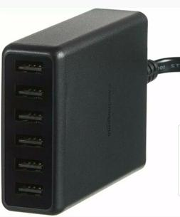 new 60w 6 port usb wall charger