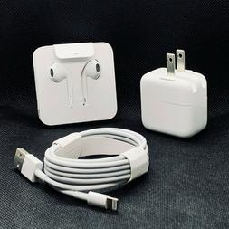 New OEM Apple iPhone kit Cable USB Charger Earpods For 7 8 X