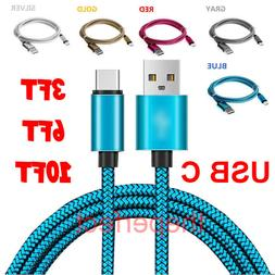 Nylon Braided Rope USB-C Type-C Data Sync Charger Charging C