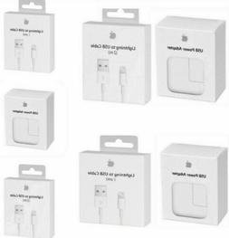 OEM Wall Charger 12W or 3ft/6ft Lightning USB Cable Fits App