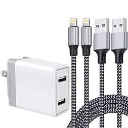 YUNSONG Phone Charger, 4.8A Wall Charger Dual Port Foldable